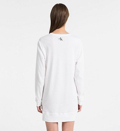 CALVINKLEIN Ночная рубашка с логотипом - Monogram - WHITE - CALVIN KLEIN MONOGRAM FOR HER - подробное изображение 1