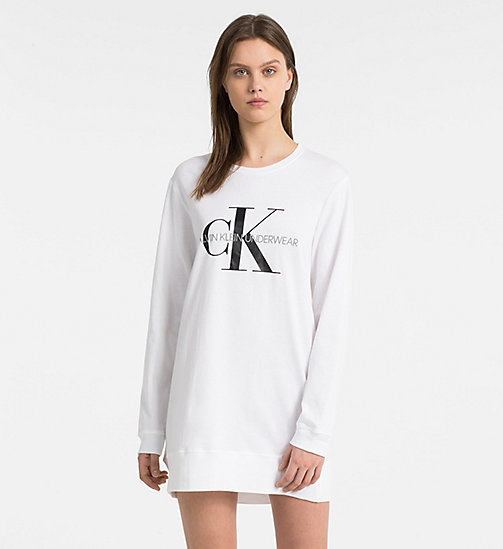 CALVINKLEIN Ночная рубашка с логотипом - Monogram - WHITE - CALVIN KLEIN MONOGRAM FOR HER - главное изображение