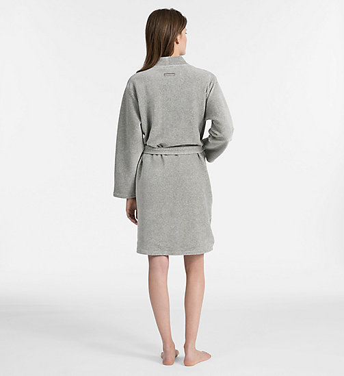 CALVINKLEIN Quilted Robe - GREY HEATHER - CALVIN KLEIN ALL GIFTS - detail image 1