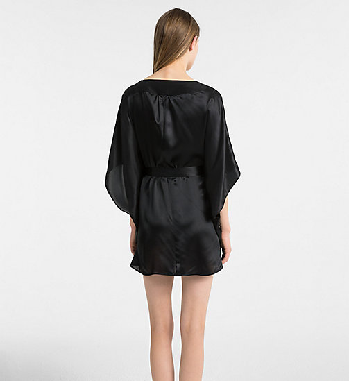 CALVIN KLEIN Silk Robe - CK Black - BLACK - CALVIN KLEIN ALL GIFTS - detail image 1