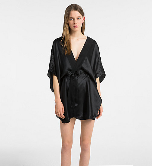 CALVIN KLEIN Silk Robe - CK Black - BLACK - CALVIN KLEIN ALL GIFTS - main image