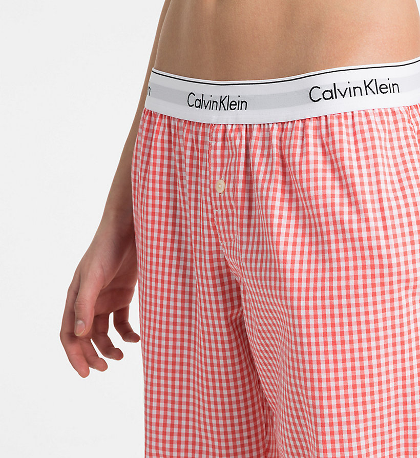 CALVIN KLEIN PJ Pants - SIMPLE FLORAL_LYRIA BLUE - CALVIN KLEIN WOMEN - detail image 2
