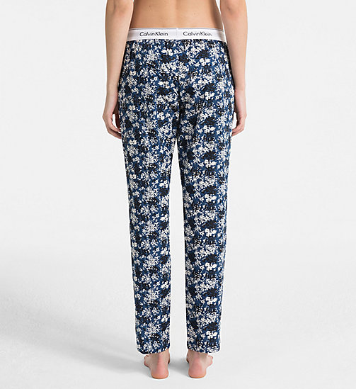CALVINKLEIN PJ Pants - SIMPLE FLORAL_LYRIA BLUE - CALVIN KLEIN PYJAMA BOTTOMS - detail image 1