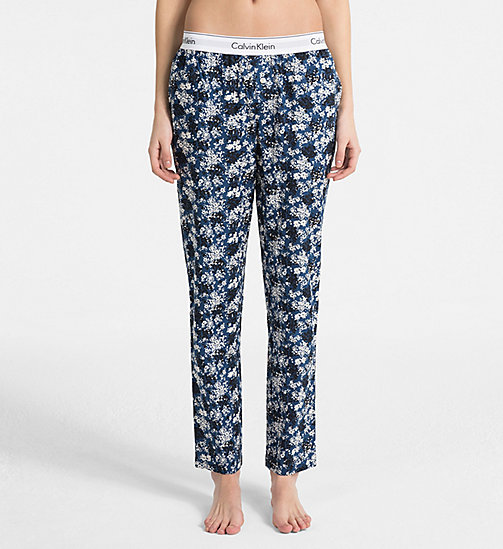 CALVINKLEIN PJ Pants - SIMPLE FLORAL_LYRIA BLUE - CALVIN KLEIN PYJAMA BOTTOMS - main image