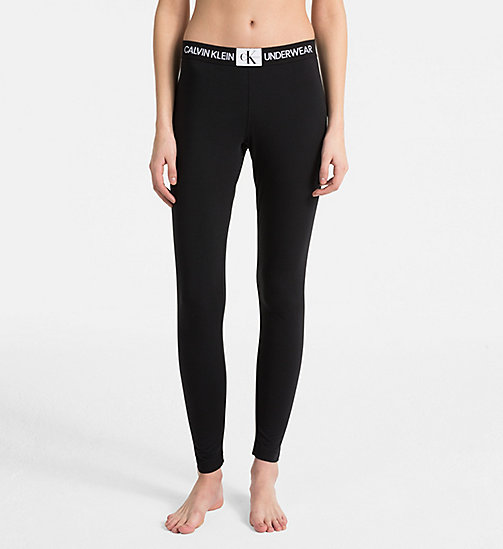 CALVINKLEIN Leggings - Monogram - BLACK - CALVIN KLEIN MONOGRAM FOR HER - main image