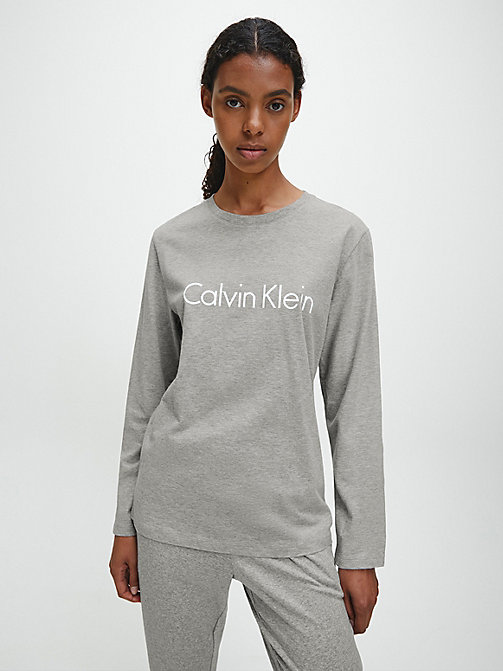 CALVIN KLEIN Logo-T-Shirt - Comfort Cotton - GREY HEATHER - CALVIN KLEIN NEW IN - main image