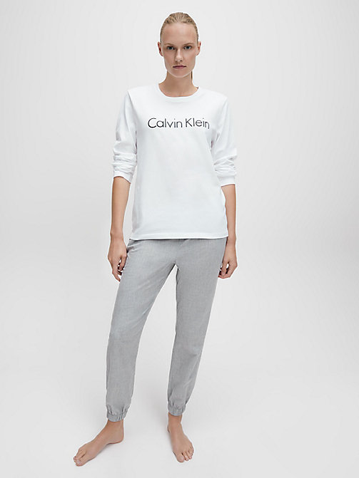 CALVIN KLEIN Logo T-Shirt - Comfort Cotton - WHITE - CALVIN KLEIN NEW FOR WOMEN - detail image 1