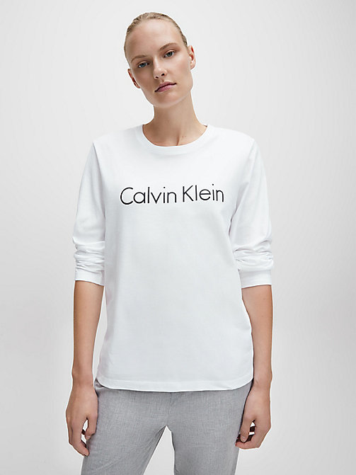 CALVIN KLEIN Logo T-Shirt - Comfort Cotton - WHITE - CALVIN KLEIN NEW FOR WOMEN - main image