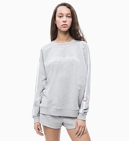 CALVIN KLEIN Sweatshirt - Statement 1981 - GREY HEATHER - CALVIN KLEIN NEW IN - main image