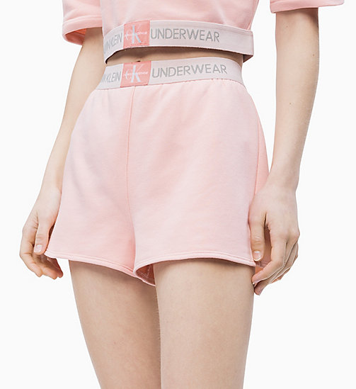 CALVIN KLEIN Pyjama-Shorts - Monogram - PEACH GLOW - CALVIN KLEIN NEW IN - main image