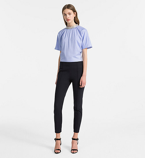 CALVINKLEIN Embellished Short-Sleeve Top - FRENCH BLUE - CALVIN KLEIN CLOTHES - detail image 1