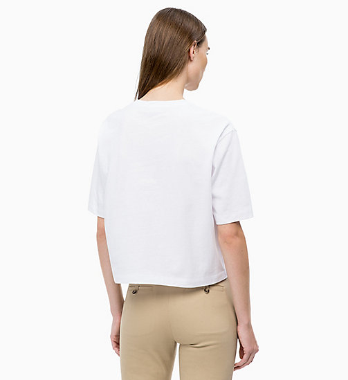 CALVINKLEIN Cropped T-Shirt - WHITE - CALVIN KLEIN CLOTHES - main image 1