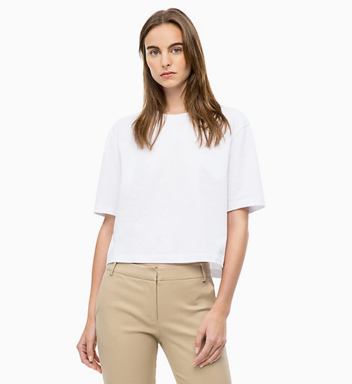 CALVINKLEIN Cropped T-Shirt - WHITE - CALVIN KLEIN CLOTHES - main image
