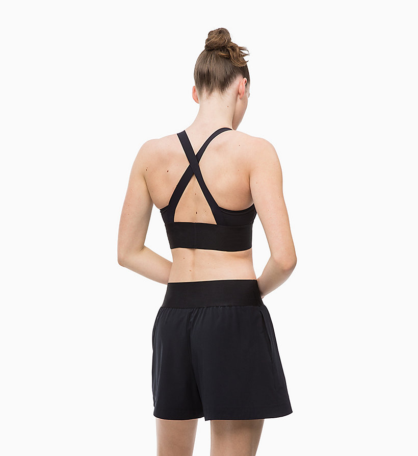 CALVIN KLEIN Medium Impact Strappy Sports Bra - FOREST NIGHT - CALVIN KLEIN PERFORMANCE - detail image 1