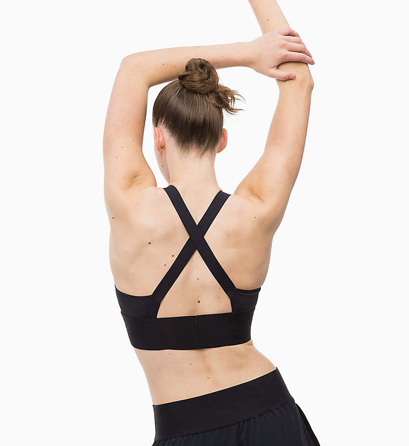 CALVIN KLEIN Medium Impact Strappy Sports Bra - FOREST NIGHT - CALVIN KLEIN PERFORMANCE - detail image 3
