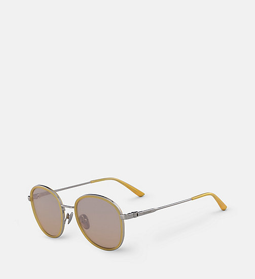 CALVINKLEIN Round Sunglasses CK18101S - MILKY ORANGE - CALVIN KLEIN MEN - detail image 1