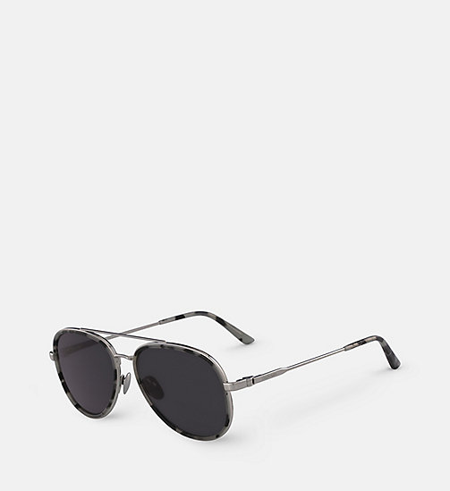 CALVINKLEIN Aviator Sunglasses CK18103S - SMOKE TORTOISE - CALVIN KLEIN SHOES & ACCESSORIES - detail image 1
