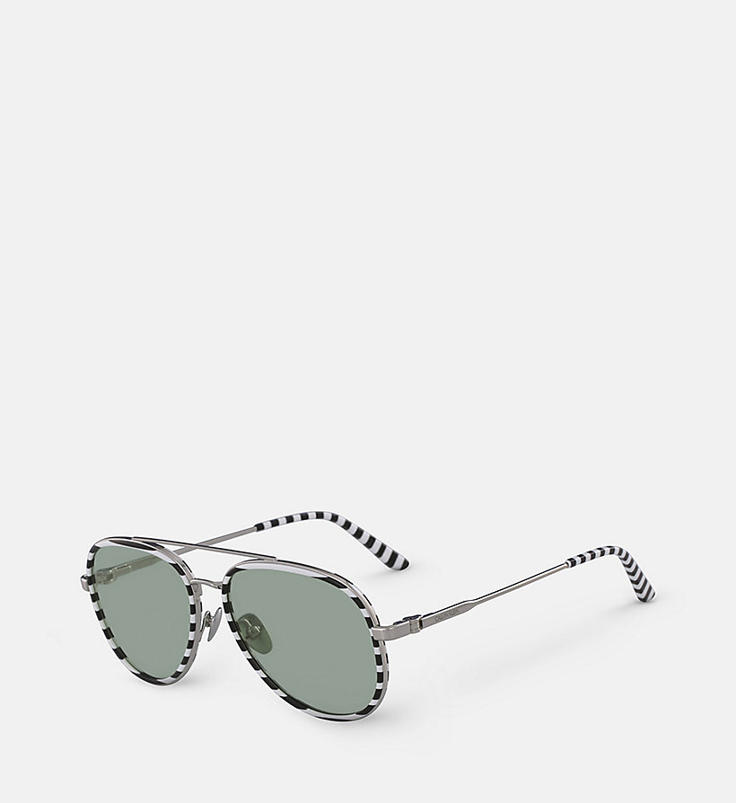 CALVIN KLEIN Aviator Sunglasses CK18103S - MILKY LIGHT BLUE - CALVIN KLEIN WOMEN - detail image 1