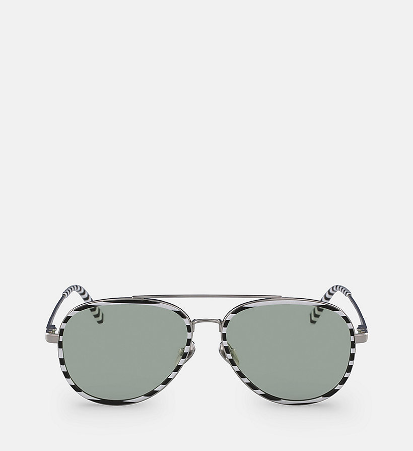CALVINKLEIN Aviator Sunglasses CK18103S - MILKY LIGHT BLUE - CALVIN KLEIN WOMEN - main image