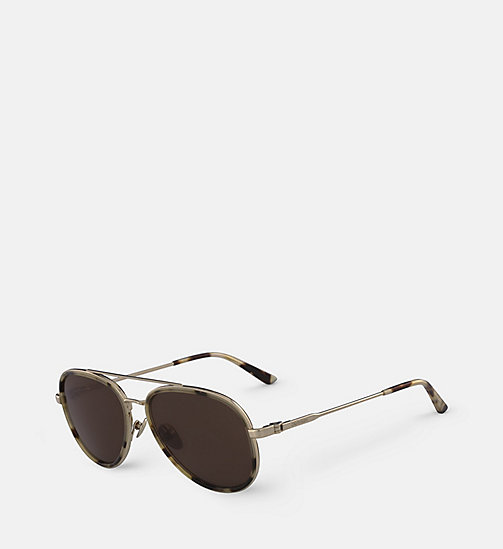 CALVINKLEIN Aviator Sunglasses CK18103S - KHAKI TORTOISE -  SHOES & ACCESSORIES - detail image 1