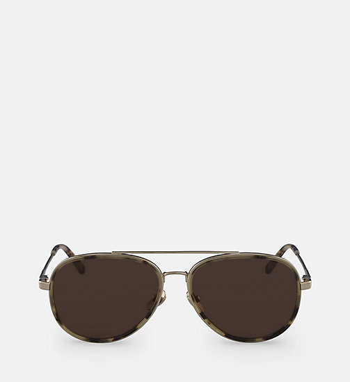 CALVINKLEIN Aviator Sunglasses CK18103S - KHAKI TORTOISE -  SHOES & ACCESSORIES - main image
