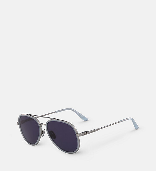 CALVIN KLEIN Aviator Sunglasses CK18103S - MILKY LIGHT BLUE - CALVIN KLEIN SUNGLASSES - detail image 1