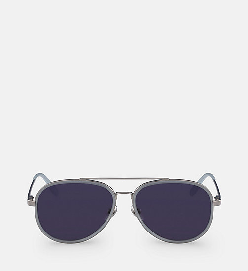CALVINKLEIN Aviator Sunglasses CK18103S - MILKY LIGHT BLUE - CALVIN KLEIN MEN - main image