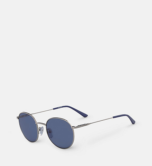 CALVINKLEIN Round Sunglasses CK18104S - SILVER/BLUE -  SUNGLASSES - detail image 1