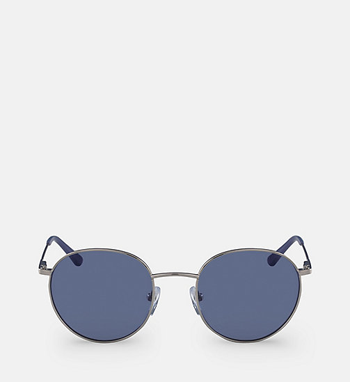 CALVINKLEIN Round Sunglasses CK18104S - SILVER/BLUE -  SUNGLASSES - main image