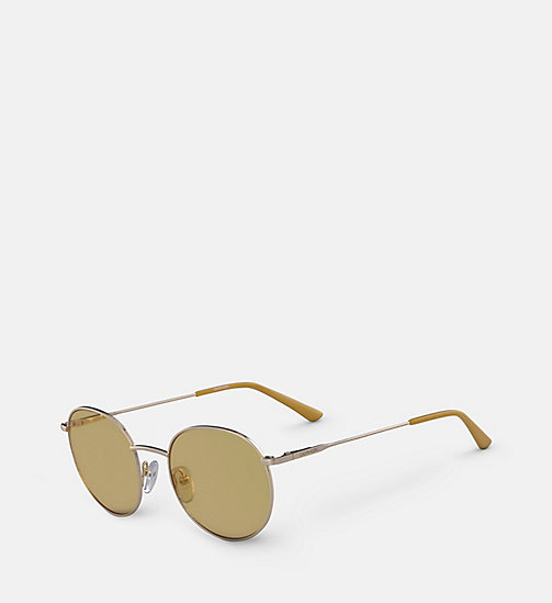 CALVINKLEIN Round Sunglasses CK18104S - GOLD/MAIZE - CALVIN KLEIN SUNGLASSES - detail image 1