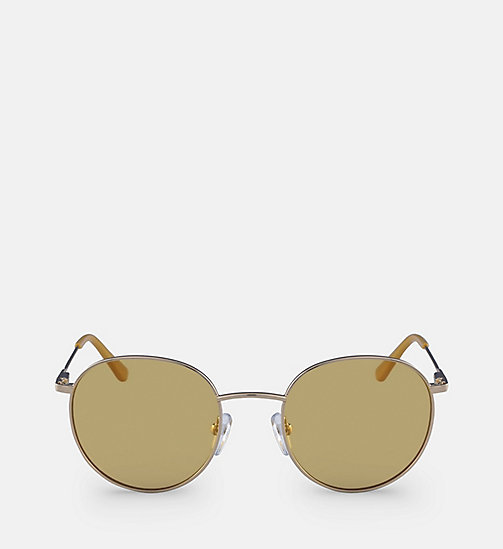 CALVINKLEIN Round Sunglasses CK18104S - GOLD/MAIZE - CALVIN KLEIN SUNGLASSES - main image