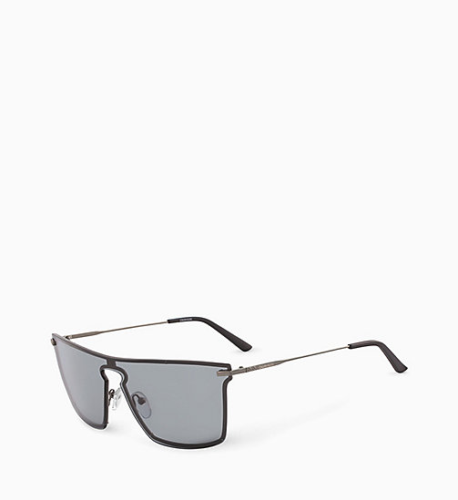 CALVIN KLEIN Shield Sunglasses CK18114S - SMOKE - CALVIN KLEIN SUNGLASSES - detail image 1