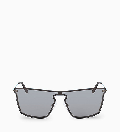 CALVIN KLEIN Shield Sunglasses CK18114S - SMOKE - CALVIN KLEIN SUNGLASSES - main image