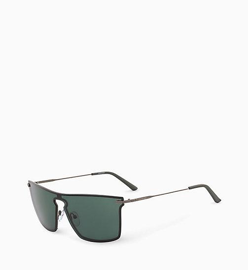 CALVIN KLEIN Shield Sunglasses CK18114S - HUNTER GREEN - CALVIN KLEIN SUNGLASSES - detail image 1