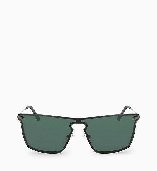 CALVIN KLEIN Shield Sunglasses CK18114S - HUNTER GREEN - CALVIN KLEIN SUNGLASSES - main image