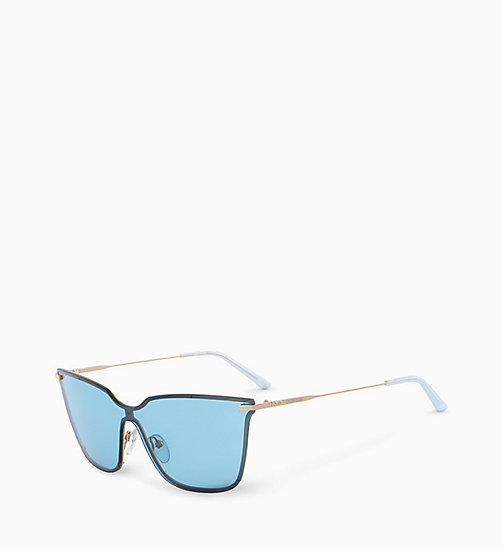 CALVIN KLEIN Shield Sunglasses CK18115S - LIGHT BLUE - CALVIN KLEIN SUNGLASSES - detail image 1