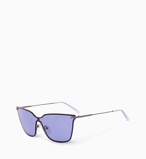 CALVIN KLEIN Shield Sunglasses CK18115S - LIGHT PURPLE - CALVIN KLEIN SUNGLASSES - detail image 1