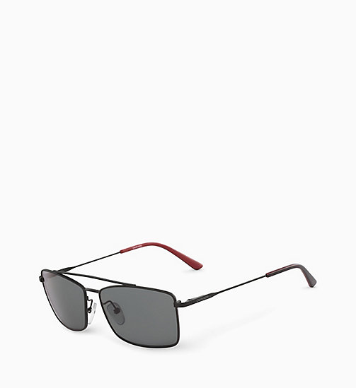 CALVINKLEIN Rectangle Sunglasses CK18117S - MATTE BLACK - CALVIN KLEIN SUNGLASSES - detail image 1