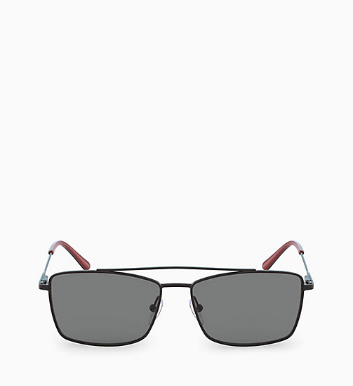 CALVINKLEIN Rectangle Sunglasses CK18117S - MATTE BLACK - CALVIN KLEIN SUNGLASSES - main image