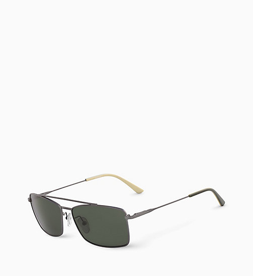 CALVIN KLEIN Rectangle Sunglasses CK18117S - SATIN GUNMETAL - CALVIN KLEIN SUNGLASSES - detail image 1