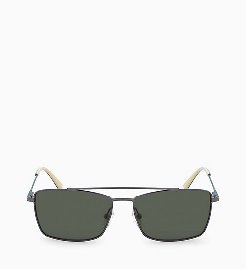 CALVINKLEIN Rectangle Sunglasses CK18117S - SATIN GUNMETAL - CALVIN KLEIN SUNGLASSES - main image