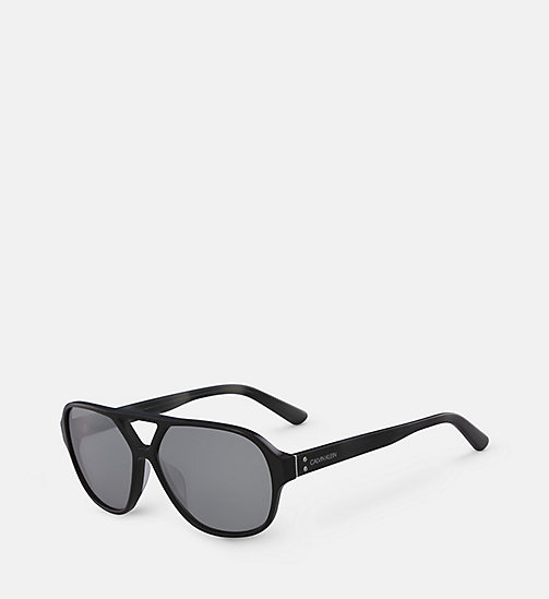 CALVINKLEIN Aviator Sunglasses CK18504S - BLACK - CALVIN KLEIN MEN - detail image 1