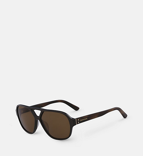 CALVINKLEIN Aviator Sunglasses CK18504S - DARK BROWN - CALVIN KLEIN SUNGLASSES - detail image 1