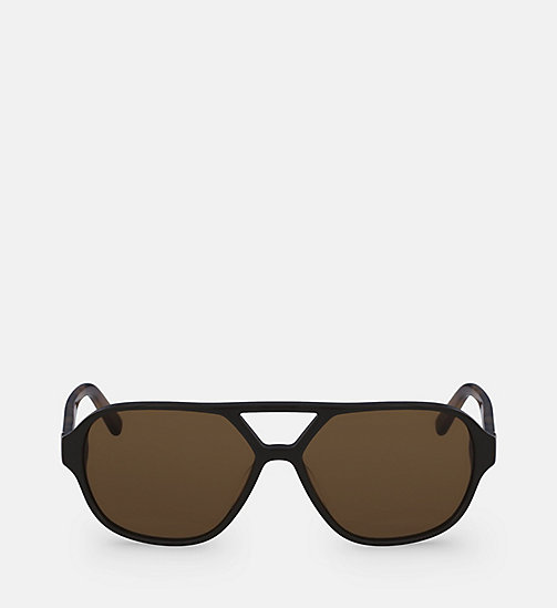CALVINKLEIN Aviator Sunglasses CK18504S - DARK BROWN - CALVIN KLEIN SUNGLASSES - main image
