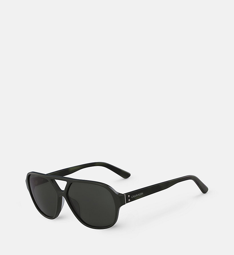 CALVIN KLEIN Aviator Sunglasses CK18504S - BLACK - CALVIN KLEIN MEN - detail image 1