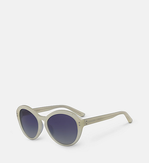 CALVINKLEIN Cat Eye Sunglasses CK18506S - MILKY PALE YELLOW - CALVIN KLEIN SUNGLASSES - detail image 1