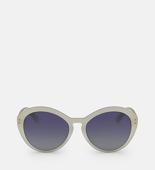 CALVINKLEIN Cat Eye Sunglasses CK18506S - MILKY PALE YELLOW - CALVIN KLEIN SUNGLASSES - main image