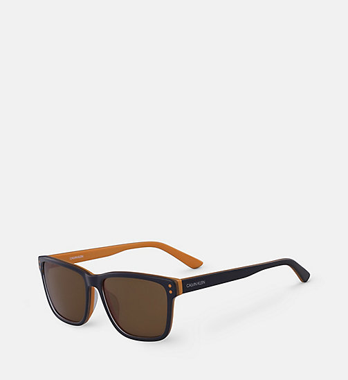 CALVINKLEIN Square Sunglasses CK18508S - NAVY/ORANGE - CALVIN KLEIN SUNGLASSES - detail image 1