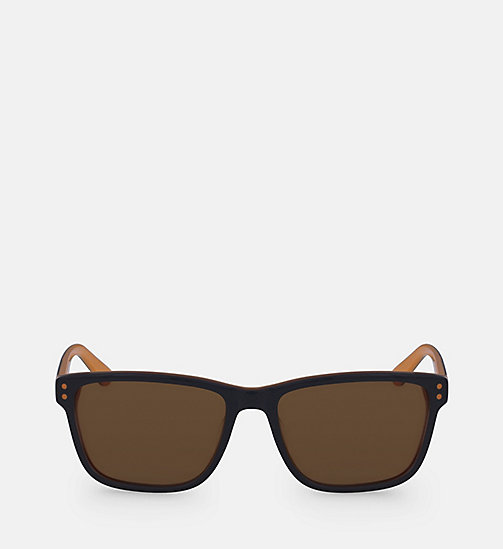 CALVINKLEIN Square Sunglasses CK18508S - NAVY/ORANGE - CALVIN KLEIN SUNGLASSES - main image