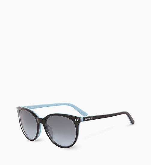 CALVINKLEIN Round Sunglasses CK18509S - BLACK LIGHT BLUE - CALVIN KLEIN SUNGLASSES - detail image 1